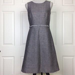 Nine West Black/White Tweed Fit & Flare Dress SZ 6